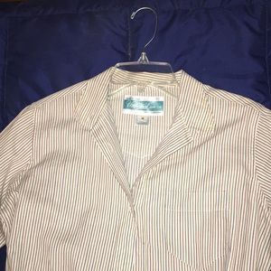 Striped long sleeve button up shirt